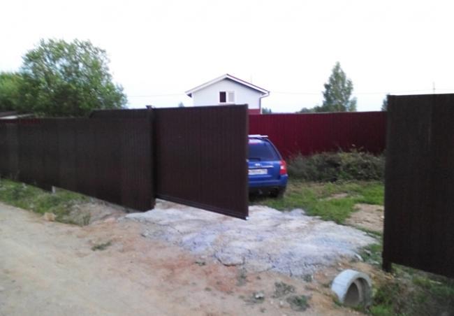 Откатные ворота 11