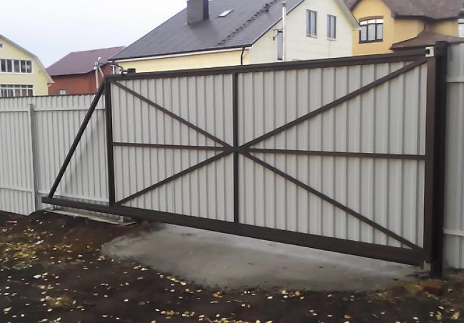 Откатные ворота 20
