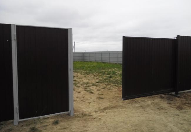 Откатные ворота 16
