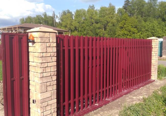 Откатные ворота 30