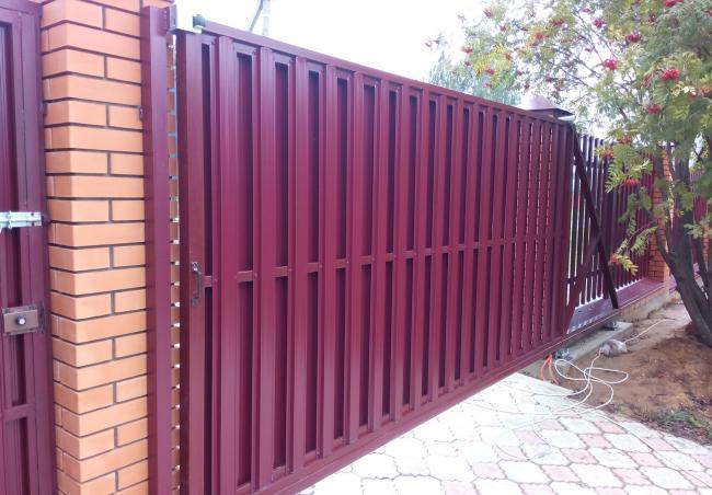 Откатные ворота 24